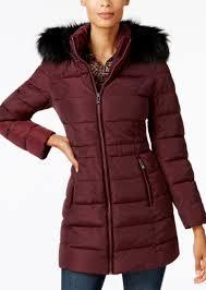 i n c faux fur trim puffer coat created for macy s inc international concepts