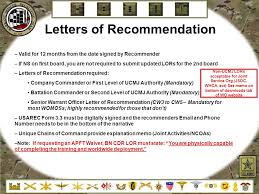 letter of recommendation army form warrant officer recruiting brief ppt video online download