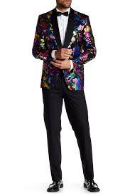 Ron Tomson Shawl Multicolor Floral Tuxedo Nordstrom Rack