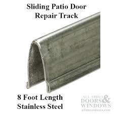 sliding glass door track cover patio glass door v track 9 in width 8 ft length sliding glass door