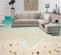 Großhandel Vinyl Bodenbelag Badezimmer Surf Strand Seestern 3d Boden