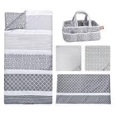 trend lab ombre gray 5 piece bedding set