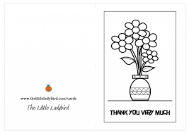 Thank You Card Coloring Pages Barcaselpheeco