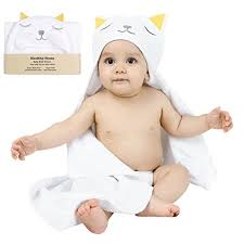 healthy home hooded baby bath towel large 33x34 inches 100 natural cotton extra soft and absorbent for boy girl newborn infant or toddler