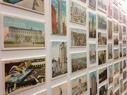 The display of vintage New York postcards in the NYC lobby is no exception: