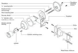 car door lock parts spare embly cylinder