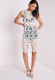 Missguided Crochet Lace Bra Insert Bodycon Dress White I Need