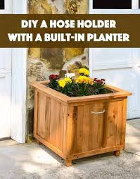 build a unique hose holder using recycled pallet wood this holder has a special feature