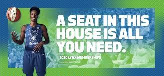 2020 Season Ticket Memberships Minnesota Lynx