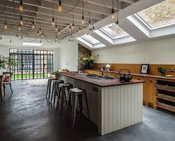 industrial style pendants that feature an exposed bulb are the perfect addition to any space to