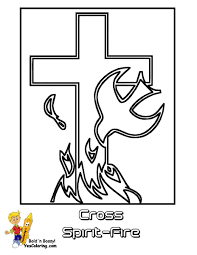 10 Easter Jesus Cross At Coloring Pages Book For Kids Boys Basket