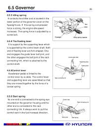 hyundai d4a engine manual governor shaft openclose 36