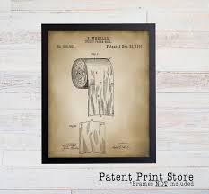 bathroom patent prints patent art bath patent wall art bathroom patent posters toilet paper patent rustic bathroom wall decor 019