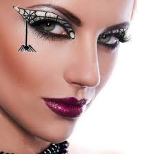 y witch goth spider black widow costume reusable crystal makeup