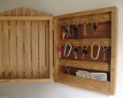 Oak key cabinet Etsy