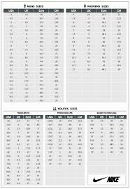 Nike Youth Size Chart 49 Circumstantial Nike Kids Sizing Chart