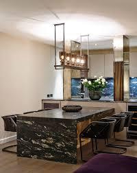 built in dining table built in dining table dining room contemporary with mirror pillars
