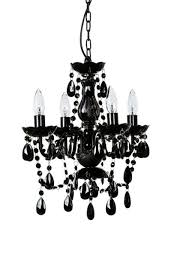 chandelier candle lighting black 4 arm lamp ceiling small acrylic crystal light