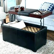 black leather ottoman coffee table square outstanding bed tabl