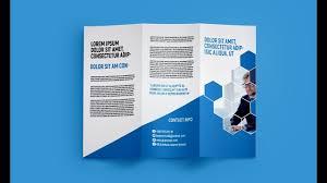 Tri Fold Brochure Design Professional Corporate