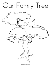 Small Picture Our Family Tree Coloring Page Twisty Noodle
