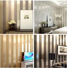 Us 340 Non Woven Zwart Wit Zilver Goud Glitter Gestreepte Behang Roll Papel De Parede Voor Livingroom Slaapkamer Backgound Muur Decor In Non Woven