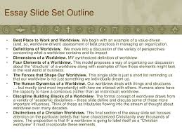 slide set the nature and importance of a worldview essay
