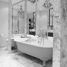 Traditional White Bathrooms White Marble Bathroom Hollipalmerattorney