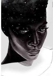 beautiful black face