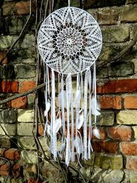 Dream Catcher With Crystals Large White Crochet Dream Catcher Dream Catcher With Crystals 4