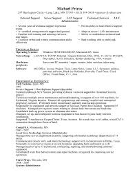 Technical Support Specialist Resume 73 Images Town Planning