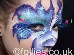 flower face painting by follies