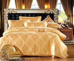 freeship bed sheet set queen king gold satin 4pc duvet cover set bedding set white and