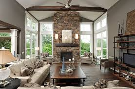 View in gallery Stone fireplace decor