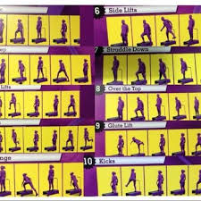 Biggest Loser Step Workout Chart Planet Fitness Planet Fitness Handy Reference For Step Routine In The 30