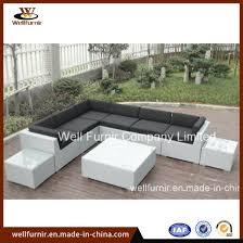 white wicker outdoor furniture rattan