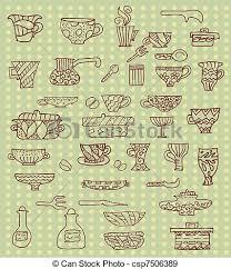 Kitchen utensils background eps vectors Search Clip Art