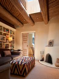 Southwestern Living Room Furniture Santa Fe New Mexico Adobe Home Southwestern Decorating Ideas