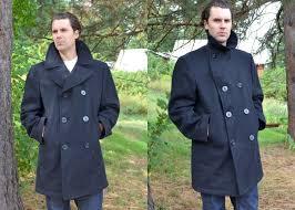 vintage navy pea coat down coat vintage military wool us