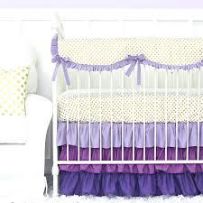 purple crib skirt purple and gold dot ruffle crib bedding set purple crib skirt dressers delightful purple crib bedding