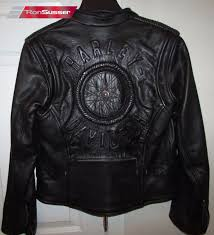 harley davidson womens willie g signature leather jacket wheel rare 98010 06vw xs