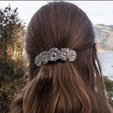 Oberon Design Hair Clips Hair Clip Barrette Daisy 80mm