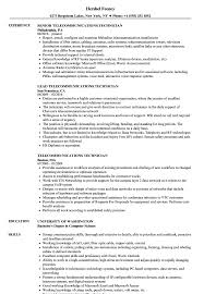 Telecom Resume Examples Telecommunications Technician Resume Samples Velvet Jobs 6