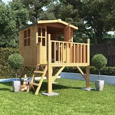 details about childrens wooden playhouse treehouse tower outdoor play house kids garden house