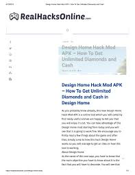 Cheat Design Home Design Home Hack Cheat How To Get Unlimited Diamonds And