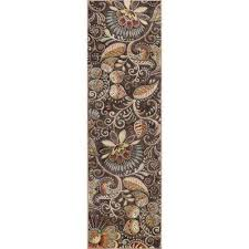 capri brown 2 ft x 10 ft runner rug