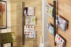 wall mount magazine rack toilet. Architecture: Hanging Magazine Holder 8 Full View Pockets Acrylic Contemporary Rack Wall Mount 13 Planning Toilet A
