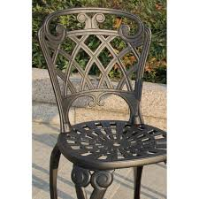 darlee san marino 3 piece cast aluminum patio bistro set antique bronze ultimate patio