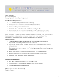 Retail Sales Associate Job Description For Resume Cover Letter