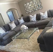 Dazzling Small Seating In Living Space With Round White Coffee Coffee Table Ideas For Sectional Couch